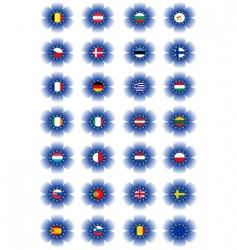 European union flags vector image