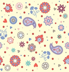 florals pattern beautiful background vector image