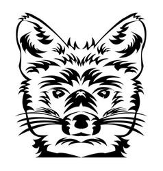 fox head tattoo art vector image