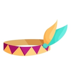Indian headband icon cartoon style vector image vector image