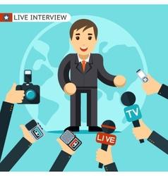 Interview vector