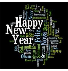 New Year Tag Cloud vector image