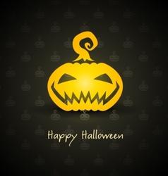 pumpkin for halloween vector image