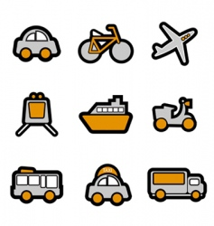 vehicles icon vector image vector image