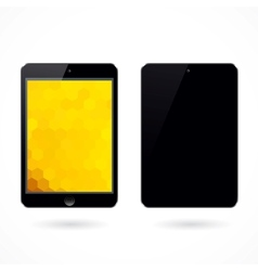 black tablet pc on white background vector image