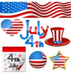 July 4th symbols vector image