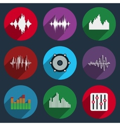 Music soundwave icons vector image