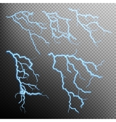 Set of lightning natural light EPS 10 vector image