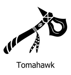 tomahawk icon simple black style vector image vector image