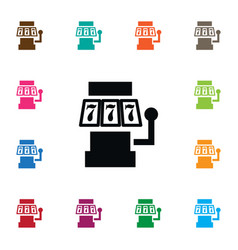 isolated slot machine icon 777 element can vector image