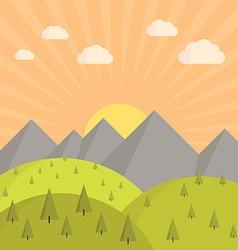 Landscape sunset vector image vector image