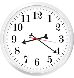 Modern clock vector image vector image