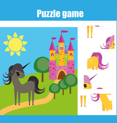 puzzle for toddlers matching children educational vector image vector image