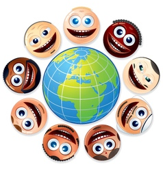 Small world people united vector image