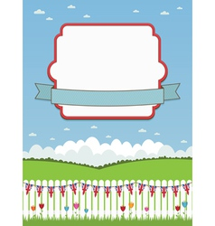 uk picket fence and frame vector image