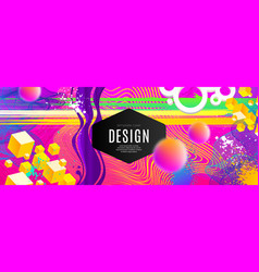 abstract design with multicolored shape vector image