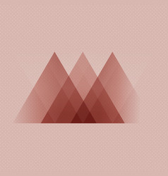 Abstract scandinavian style low poly design vector