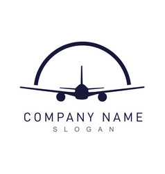 airplane logotype vector image
