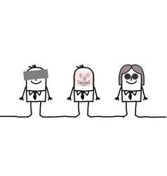 Anonymous cartoon people vector