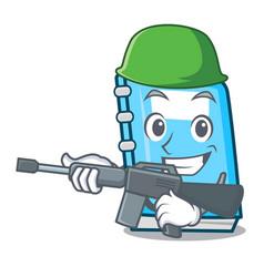 Army education character cartoon style vector