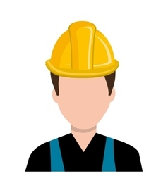 Avatar construction man graphic vector image