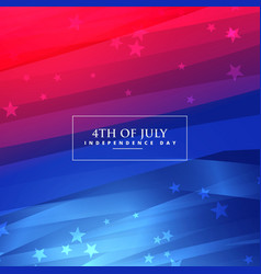 Beautiful 4th july background vector
