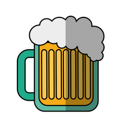 Beer jar drink isolated icon vector