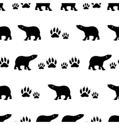 black bears walking seamless pattern eps10 vector image