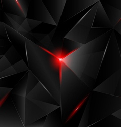 Black crystal vector