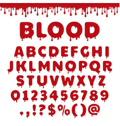 bloody latin alphabet vector image