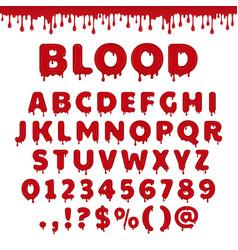 Bloody latin alphabet vector