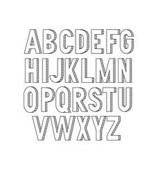 bold condensed slim thin grotesque font vector image