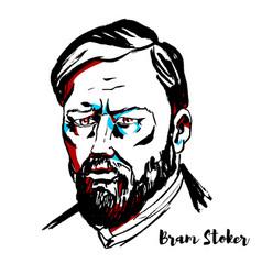 Bram stoker portrait vector