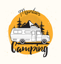 Camper van travel trailer or recreational vehicle vector