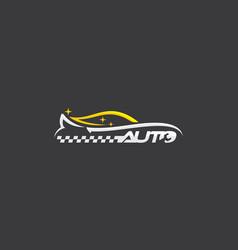 car line art logo icon vector image