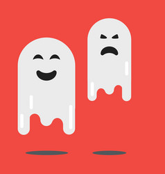 cartoon spooky ghost character scary holiday vector image