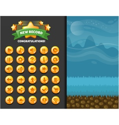 casual glass buttons vector image