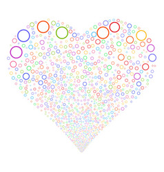 Circle bubble fireworks heart vector