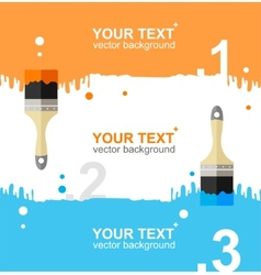 Colorful brushes option banner vector