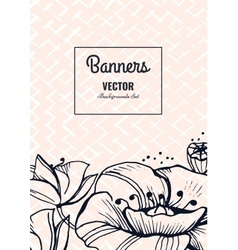 Creative template card vector image