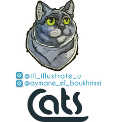 cute grey cat vector image