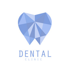 Dental clinic logo symbol diamond tooth vector