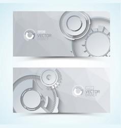 Digital gears banners vector