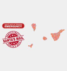 Disaster and emergency collage santa cruz de vector