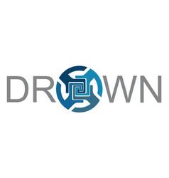 drown logo vector image