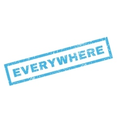 Everywhere Rubber Stamp vector