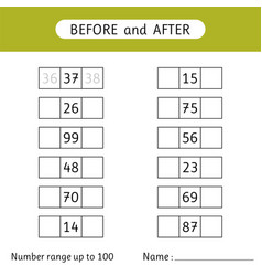 Fill in missing numbers before and after vector