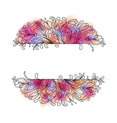 Flower wreath in a watercolor style vector