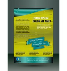 Flyer template for technology business vector