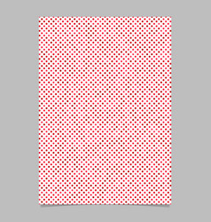 Geometrical dot pattern background page template vector